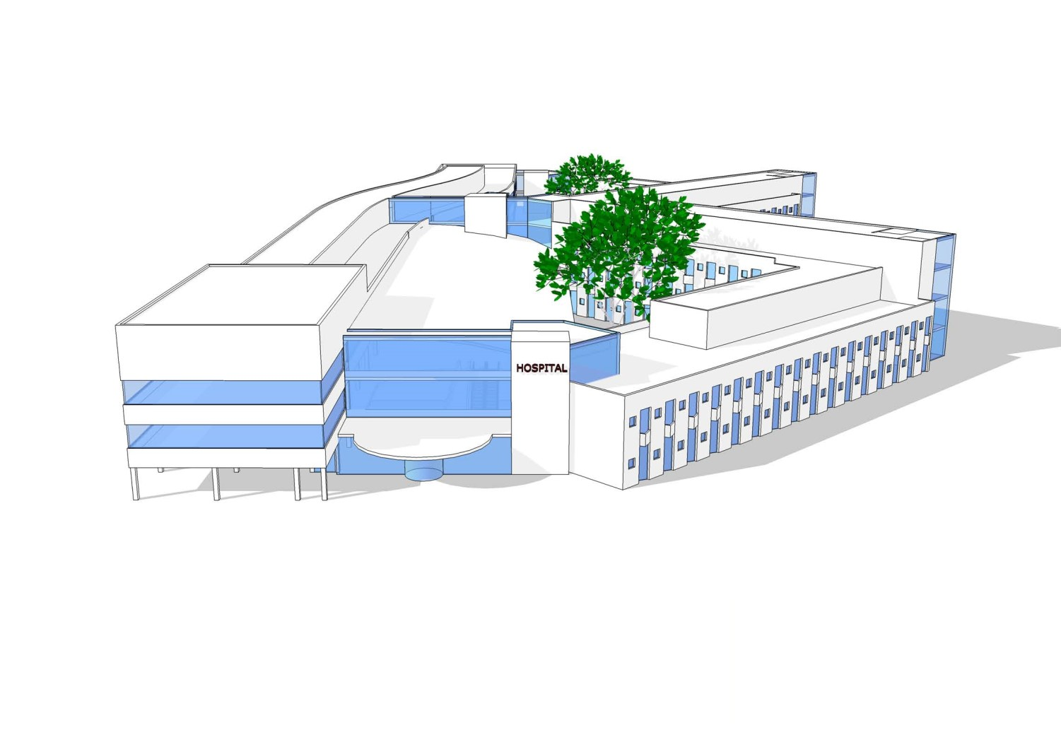 Harp Consultancy - 18 Example of a 200 bed hospital, contemplated